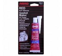 Герметик силиконовый красный 85гр ABRO США