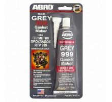 Герметик силиконовый серый 999 85гр ABRO США