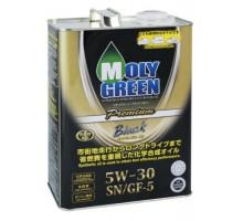 Масло  моторное MOLY GREEN BLACK SN・GF-5 5W-30 4л